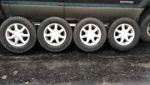 VW Golf rims with winter tires