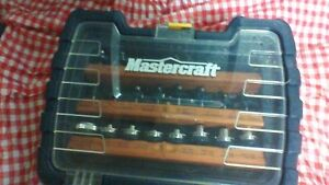 NEW MASTERCRAFT PLUNGE ROUTER with 18 ACCESSORIES
