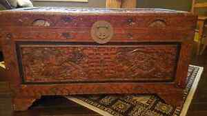 Ornate Hand Carved Chinese Chest