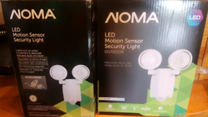 Two NEW Noma LED motion security lights