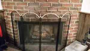Folding Fire Place Tools Screen / Ecran Outils Foyer
