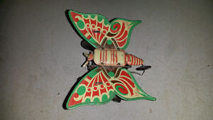 ANTIQUE TIN TOY BUTTERFLY