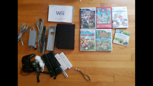 Nintendo WII with games and hookups