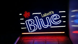Labatt's Blue neon sign only used several years.