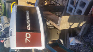 Late 70s 70HP Johnson outboard engine