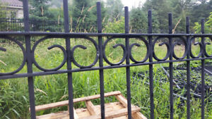 Custom made iron fence panels for sale.