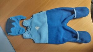 MEC - Mountain Equipment Blue Fleece Bunting with hat - 6 months