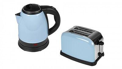 Frühstücks Küchen Set 2tlg. 1.2Liter Wasserkocher 2-Scheiben-Toaster pastellblau
