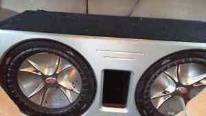 "Two 12"" Kicker CVR Subs W/Ported Box Windsor Region Ontario image 2"