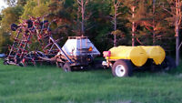 flexicoil 41 foot airdrill with 160 bus tank & large liquid cart