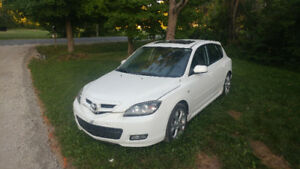 Mazda 3 hatchback white AS IS/FOR PARTS