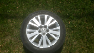 """4x Mags 17"""" inch TPMS pour Mazda avec tires"""