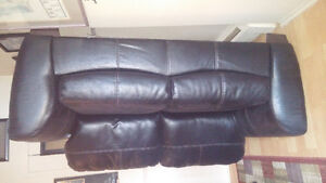 black pleather loveseat