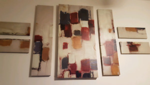 Abstract Canvas Wall Art Piece