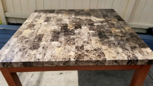 FAKE MARBLE BAR TABLE.  FREE DELIVERY