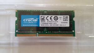 NEW! Crucial 16GB (1x16GB) DDR3L-1600 MHz Laptop Memory RAM