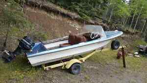 Boat with 20 hp mercury