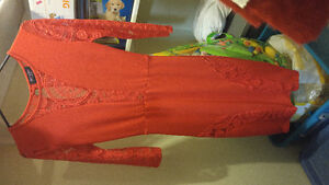 Lace red dress, 3 quarter sleeves London Ontario image 1