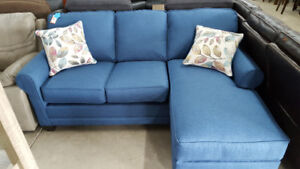 Blue Sofa With Reversible Chaise - Delivery Available