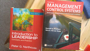 Management Control Systems & Leadership textbooks
