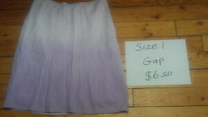 Womens size 1 pants and skirt