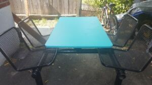 Steel outdoor table