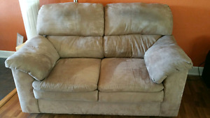 Microfiber couch and love seat