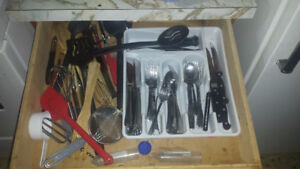 Assorted utensils and dishware