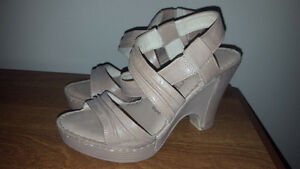*NEW* nude wedges sandals size 5/5.5 *NEW*