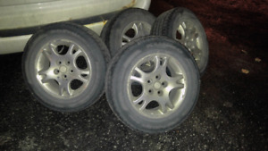 Rims and winter tires for caravan
