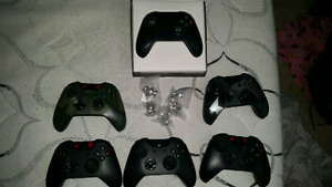 Xbox one, 6 controllers, 5 physical games, external drive
