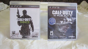(2) jeux; Call of Duty MW3 et Call of Duty GHOSTS Saguenay Saguenay-Lac-Saint-Jean image 1