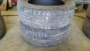 Pair of 2 Michelin Primacy MXV4 205/55R16 tires (70% tread life)