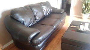 "88"" Faux Leather Chesterfield"