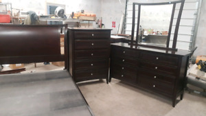 Queen bed and dressers