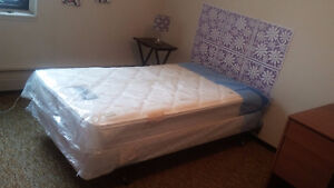Bed, mattress, and metal frame