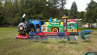 Fun Express Train Station inflatable for birthday parties
