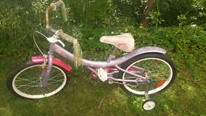 Free childs bike with training wheels