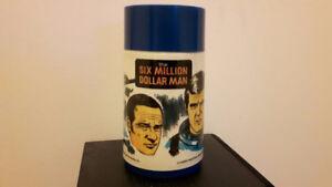 1974 Six Million dollar man Thermos - Vintage