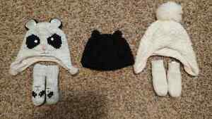 BABY GIRL 6-12 Months Old Toque & Mitts.