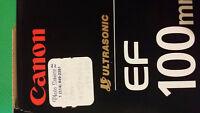 New) Canon EF 100mm f2.8 Macro ($699 + tax) + hood