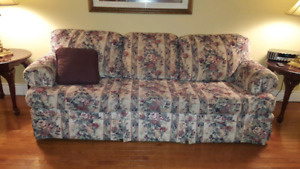Sofa and wing chair