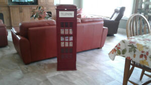 CURIO CABINET- ENGLISH STYLE PHONE BOOTH