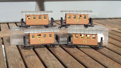 Konvolut 4 Stück Handarbeitsmodelle Personenwagen für H0e, Eigenbaumodelle