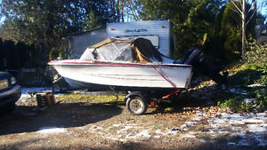 Boat for sale with trailer and motor
