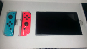 Mint Condition Neon Nintendo Switch with Yoshi game