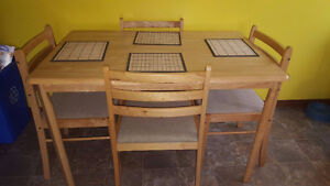 table and 4 matching chairs stratford