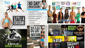 DVD Workout :  80day-21day fix-Insanity-core2force-piyo-T25