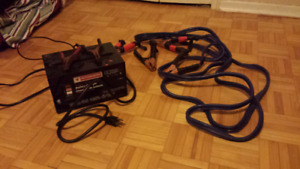 Booster cables and charger
