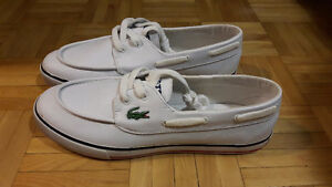 Lacoste white leather shoes. Great Price